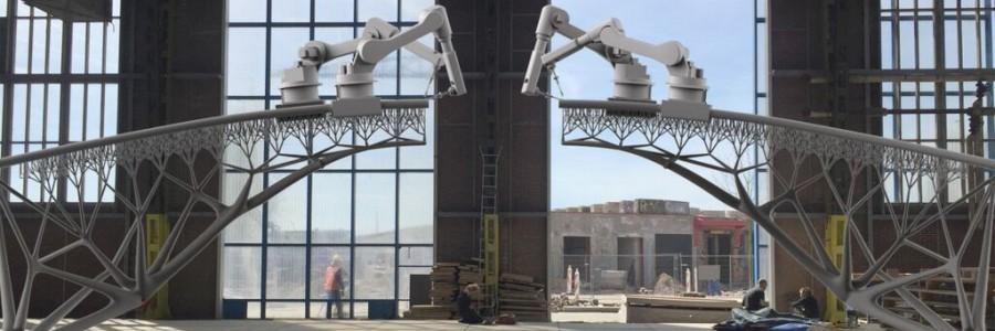 3D-geprinte brug van metaal